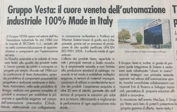 The heart of Veneto for the industrial automation 100% Made in Italy
