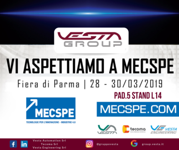 Tecoma Vi aspetta a MECSPE 2019!