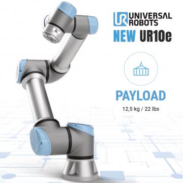Nuovo Universal Robot UR10e: ora con un 25% di payload in più!